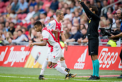 (L-R) David Neres of Ajax, Vaclav Cerny of Ajax during the Dutch Eredivisie match between Ajax Amsterdam and FC Groningen at the Amsterdam Arena on August 20, 2017 in Amsterdam, The Netherlands