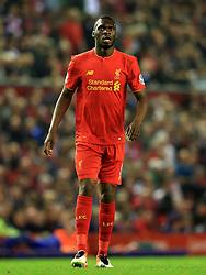 Christian Benteke of Liverpool  - Mandatory byline: Matt McNulty/JMP - 11/05/2016 - FOOTBALL - Anfield - Liverpool, England - Liverpool v Chelsea - Barclays Premier League
