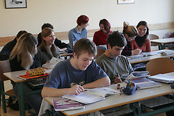 In a school. (Photo by Vid Ponikvar / Sportida)