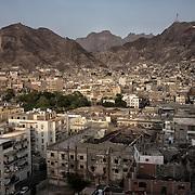 Vue du quartier de Tawahi à Aden, réalisée le 16 juin 2017.