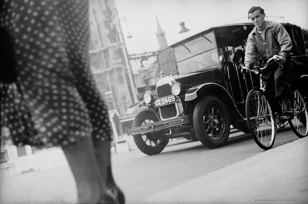 Traffic - Westminster Underground, England, 1937