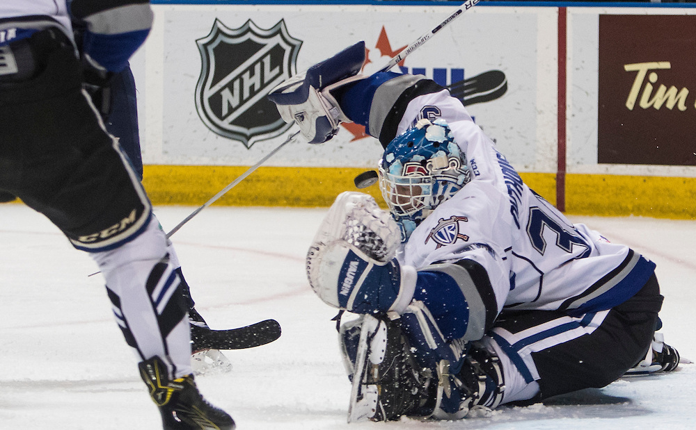 VICTORIA, B.C.: FEBRUARY 7, 2017-  The Seattle Thunderbirds beat the Victoria Royals 3-1 on Western Hockey League action at the Save-on-Foods Memorial Centre in Victoria, British Columbia on February 7, 2017. (KEVIN LIGHT)