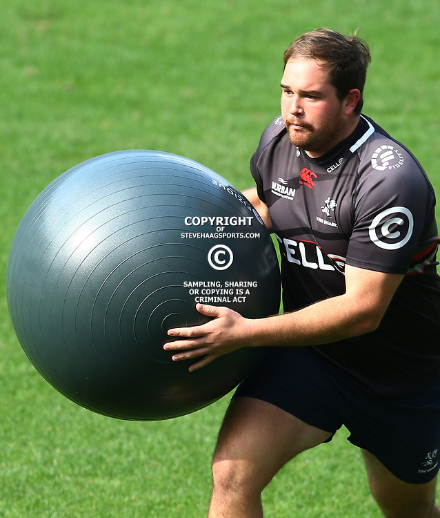 John-Hubert Meyer during The Cell C Sharks captain's run at Growthpoint Kings Park in Durban, South Africa. 3rd August 2017(Photo by Steve Haag)<br /> <br /> images for social media must have consent from Steve Haag