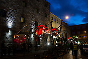 REPRO FREE: Spanish Street Spectacle company Sarruga brought its seven gigantic fire-breathing Insects to invade the city streets of Galway as part of the 39th Galway International Arts Festival. See giaf.ie   Photo: Andrew Downes, Xposure.