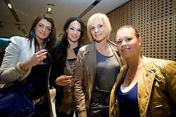 Mateja, girlfriend of Valter Birsa, Zoja Trobec, girlfriend of of Samir Handanovic,  Sonja, wife of Branko Ilic and Mirjana Todorovic - Mimi, girlfriend of Dalibor Stevanovic at official presentation of Slovenian National Football team for World Cup 2010 South Africa, on May 21, 2010 in Congress Center Brdo at Kranj, Slovenia. (Photo by Vid Ponikvar / Sportida)