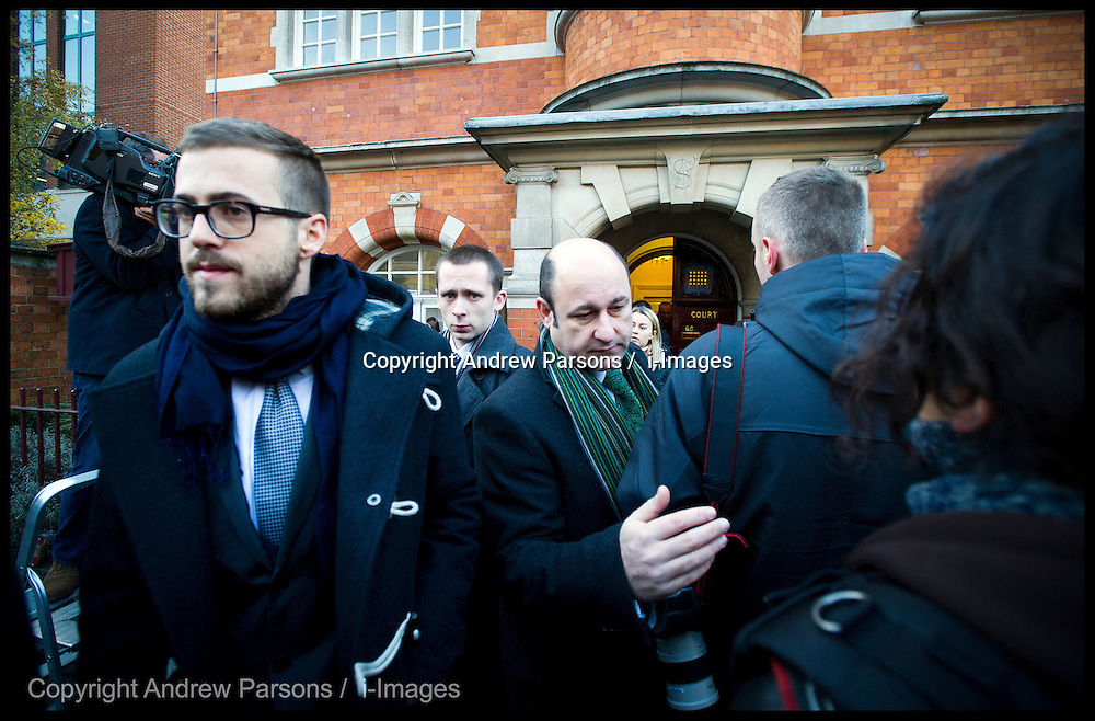 Journalist leave the  Westminster Coroners Court on December 13, 2012 in London, England. The inquest into the death of Jacintha Saldanha begins at Westminster Coroners Court today. Jacintha Saldanha was one of two hospital staff who were responsible for inadvertently revealing details of the pregnant duchess's medical condition to two Australian DJ's, and was subsequently found dead. Photo By Andrew Parsons / i-Images