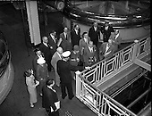 1958 - Party of 30 U.S. journalists visit the Guinness Brewery