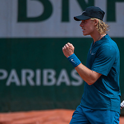 Denis Shapovalov of Canada during Day 5 for the French Open 2018 on May 31, 2018 in Paris, France. (Photo by Baptiste Fernandez/Icon Sport)