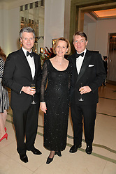 Left to right, MATT YOUNG, MARY-JANE ATTWOOD and NICK FULLMAN at the Tusk Friends Dinner in aid of wildlife charity Tusk held at Claridge's, Brook Street, London on 11th March 2014.