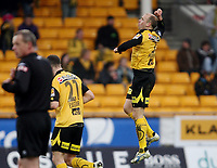 Fotball <br /> Tippeligaen<br /> Åråsen Stadion <br /> 28.03.2010<br /> Lillestrøm SK  v Hønefoss BK  6-0<br /> Foto: Dagfinn Limoseth, Digitalsport<br /> Steinar Pedersen , Lilestrøm jubler