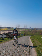 On the Paterberg, cycling in Flanders