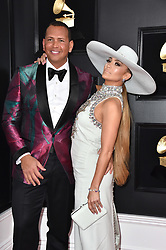 Jennifer Lopez and Alex Rodriguez attend the 61st Annual GRAMMY Awards at Staples Center on February 10, 2019 in Los Angeles, CA, USA. Photo by Lionel Hahn/ABACAPRESS.COM