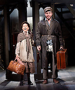 Ragtime <br /> Book by Terrence Mcnally <br /> Music by Stephen Flaherty <br /> Lyrics by Lynn Ahrens<br /> at Charing Cross Theatre <br /> Press photocall<br /> 14th October 2016<br /> directed by Thom Sutherland <br /> <br /> <br /> <br /> Gary Tushaw as Tateh<br /> Riya Vyas as Little Girl <br /> <br /> <br /> Photograph by Elliott Franks <br /> Image licensed to Elliott Franks Photography Services