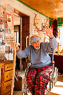 Napoleon Garcia, lifetime resident,  Abiquiu, New Mexico, Genizaro, member of Penitente Brotherhood of the Light, Georgia O'Keefe caretaker, at his studio