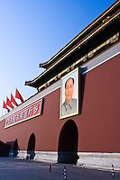 Mao Zidong's portrait hangs over the entrance to the Forbidden City in Beijing.
