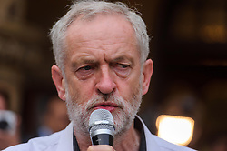 © Licensed to London News Pictures. 17/08/2015London, UK. Jeremy Corbyn speaks at Ealing Town Hall in his bid to secure leadership of the Labour Party. Photo credit : Simon Jacobs/LNP