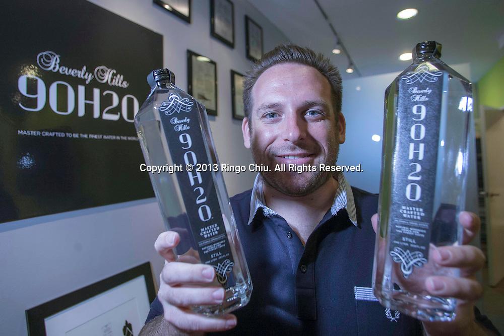 Jon Gluck, founder of premium water Beverly Hills 90H20.
