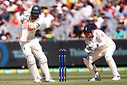 Shaun Marsh drives the ball during the Magellan fourth test match between Australia v England at  the Melbourne Cricket Ground, Melbourne, Australia on 26 December 2017. Photo by Mark  Witte.