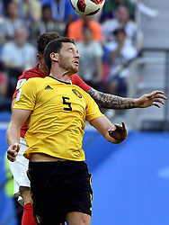 July 14, 2018 - Saint-Petersburg, RUSSIA - Belgium's Jan Vertonghen pictured in action during a soccer game between Belgian national soccer team the Red Devils and England, the third place play-off of the 2018 FIFA World Cup, Saturday 14 July 2018 in Saint-Petersburg, Russia. ..BELGA PHOTO LAURIE DIEFFEMBACQ (Credit Image: © Laurie Dieffembacq/Belga via ZUMA Press)