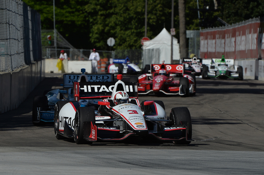 Helio Castroneves, Raceway at Belle Isle Park, Detroit, MI USA 6/1/2014
