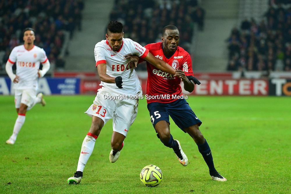 Wallace / Kevin KOUBEMBA  - 24.01.2015 - Lille / Monaco - 22eme journee de Ligue1<br />Photo : Dave Winter / Icon Sport