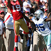 San Francisco 49ers wide receiver Ted Ginn (19) during an NFL football game between the Dallas Cowboys and the San Francisco 49ers at Candlestick Park on Sunday, Sept. 18, 2011 in San Francisco, CA  (Photo/Alex Menendez)