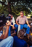 "A French documentary film crew interviews Billy Carter at his gas station in Plains, Georgia. William Alton - Billy - Carter (March 29, 1937 – September 25, 1988) was an American farmer, businessman, brewer, and politician, and the younger brother of U.S. President Jimmy Carter. Carter promoted Billy Beer and was a candidate for mayor of Plains, Georgia. Carter was born in Plains, Georgia, to James Earl Carter Sr. and Lillian Gordy Carter. He was named after his paternal grandfather and great-grandfather, William Carter Sr. and William Archibald Carter Jr. respectively. He attended Emory University in Atlanta but did not complete a degree. He served four years in the United States Marine Corps, then returned to Plains to work with his brother in the family business of growing peanuts. In 1955, at the age of 18, he married Sybil Spires (b. 1939), also of Plains. They were the parents of six children: Kim, Jana, William ""Buddy"" Carter IV, Marle, Mandy, and Earl, who was 12 years old when his father died."