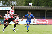Andy Barcham during the Pre-Season Friendly match between AFC Wimbledon and Cheltenham Town at the Cherry Red Records Stadium, Kingston, England on 1 August 2015. Photo by Stuart Butcher.