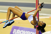 Morgan Lake, Great Britain, High Jump, during the European Athletics Indoor Championships 2019 at Emirates Arena, Glasgow, United Kingdom on 1 March 2019.