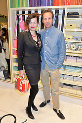 JASMINE GUINNESS and GAWAIN RAINEY at the opening party of the new Kate Spade New York store at 182 Regent Street, London on 21st April 2016.