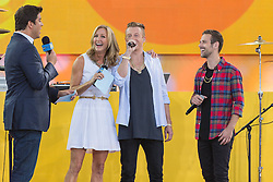 17.08.2013, New York, USA, ABC Show, Good Morning Amerika, im Bild Macklemore, Ryan Lewis, Lara Spencer, and Josh Elliot // during the ABC Show Good Morning Amerika in New York, Unites States of Amerika on 2013/08/17. EXPA Pictures © 2013, PhotoCredit: EXPA/ Newspix/ MediaPunch Inc<br /> <br /> ***** ATTENTION - for AUT, SLO, CRO, SRB, BIH, TUR, SUI and SWE only *****