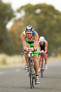 Ollie WHISTLER 04:01:33. Iornman 70.3 Shepparton. Hosted By The Shepparton Triathlon Club. 13/11/2011. Photo By Lucas Wroe.
