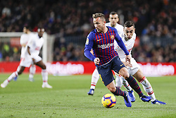 January 13, 2019 - Barcelona, Catalonia, Spain - FC Barcelona midfielder Arthur (8) during the match FC Barcelona against Eibar, for the round 19 of the Liga Santander, played at Camp Nou  on 13th January 2019 in Barcelona, Spain. (Credit Image: © Mikel Trigueros/NurPhoto via ZUMA Press)
