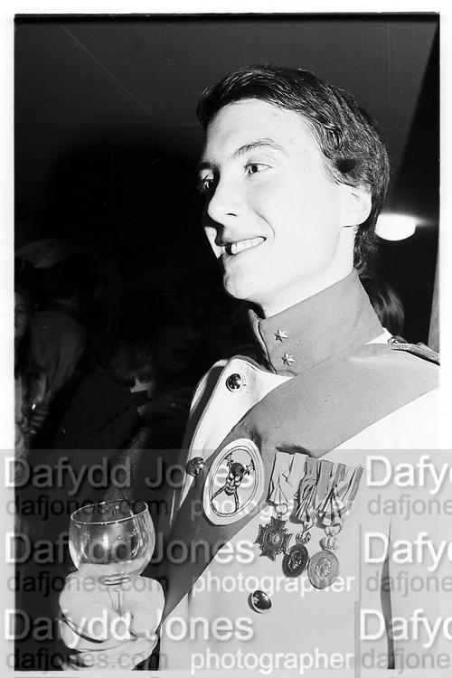 James Sainsbury, Assasins drinks, Oxford, November1980© Copyright Photograph by Dafydd Jones 66 Stockwell Park Rd. London SW9 0DA Tel 020 7733 0108 www.dafjones.com
