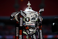 The playoff final trophy gleams in the sun - Photo mandatory by-line: Rogan Thomson/JMP - 07966 386802 - 17/05/2015 - SPORT - FOOTBALL - London, England - Wembley Stadium - Bristol Rovers v Frimsby Town - Vanarama Conference Premier Play-off Final.