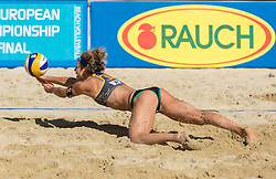 31.07.2015, Strandbad, Klagenfurt, AUT, A1 Beachvolleyball EM 2015, im Bild Laura Ludwig 1 GER // during of the A1 Beachvolleyball European Championship at the Strandbad Klagenfurt, Austria on 2015/07/31. EXPA Pictures © 2015, EXPA Pictures © 2015, PhotoCredit: EXPA/ Mag. Gert Steinthaler
