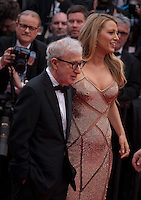Director Woody Allen and Actress Blake Lively at the gala screening for Woody Allen's film Café Society at the 69th Cannes Film Festival, Wednesday 11th May 2016, Cannes, France. Photography: Doreen Kennedy