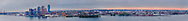 New York City, New York, East Side, East RIver, Brooklyn and Queens, Dawn, Sunrise, panorama