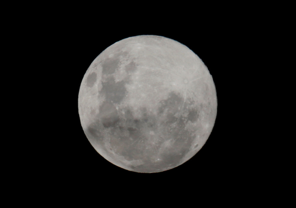 Largest full moon of the year over Blenheim, New Zealand, Sunday, June 23, 2013. Credit:SNPA / Anthony Phelps