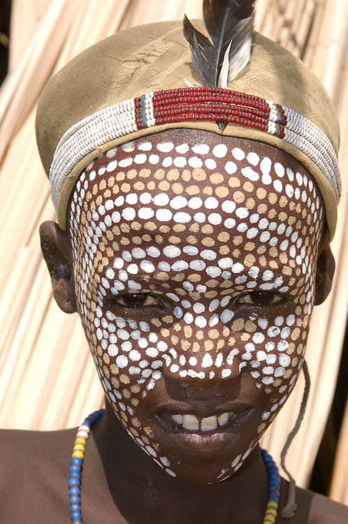 Tribal young boy from the tribes of the Abore,Omovalley, Ethiopia,Africa