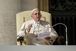 November 12, 2016 - Vatican City, Vatican - Pope Francis delivers his homily as he celebrates the last Saturday Jubilee Audience as part of ongoing celebrations of the Holy Year of Mercy in St. Peter's Square in Vatican City, Vatican. Pope Francis presided over the last special audience for the Jubilee of Mercy this morning, during which he called on Christians to witness to God's mercy by being inclusive. (Credit Image: © Giuseppe Ciccia/Pacific Press via ZUMA Wire)