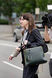 01 June  2015. New Orleans, Louisiana. <br /> Rita Benson LeBlanc leaves Civil Distrcit Court where she attended a hearing to determine the competency of her grandfather Tom Benson. Benson is the billionaire owner of the NFL New Orleans Saints, the NBA New Orleans Pelicans, various Mercedes dealerships, banks, property assets and a slew of business interests. Rita, her brother and mother demanded a competency hearing after Benson changed his succession plans and decided to leave the bulk of his estate to third wife Gayle, sparking a controversial fight over control of the Benson business empire.<br /> Photo©; Charlie Varley/varleypix.com