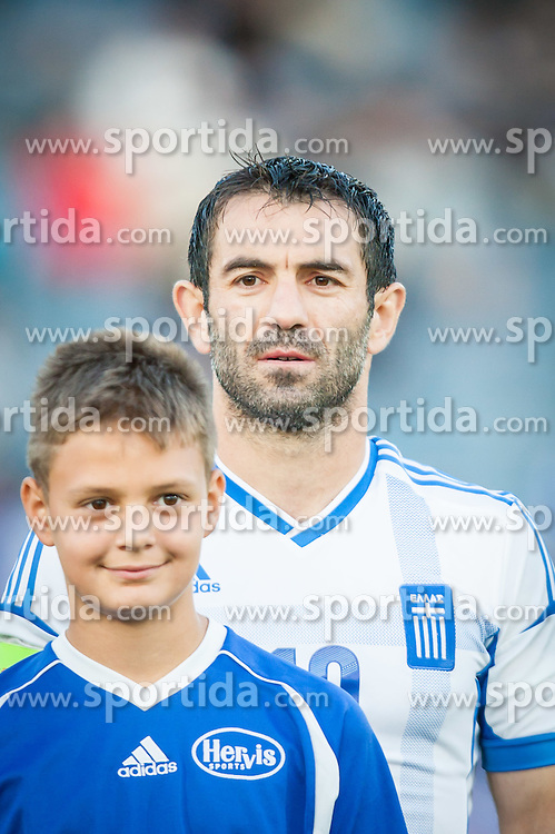 26.05.2012, Kufstein Arena, Kufstein, AUT, SLFC Summerleague, Griechenland vs Slowenien, im Bild Giorgios Karagounis, (GRE,# 10) // Giorgios Karagounis, (GRE,# 10) during friendly Football Match between the Nationateams of Greece and Slovenia at the Kufstein Arena, Kufstein, Austria on 2012/05/26. EXPA Pictures © 2012, PhotoCredit: EXPA/ Juergen Feichter