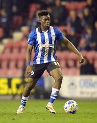 Wigan Athletic's Sheyi Ojo in action - Photo mandatory by-line: Richard Martin-Roberts/JMP - Mobile: 07966 386802 - 17/03/2015 - SPORT - Football - Wigan - DW Stadium - Wigan Athletic  v Watford - Sky Bet Championship