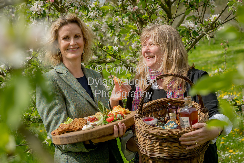 Repro Free No charge for Repro<br /> <br /> 24-4-17<br /> <br /> Helen Carroll of RTE&rsquo;s Ear to the Ground launched the next phase of #TasteKilkenny on Monday, 24th April at a lunch event at Highbank Orchards &amp; Distillery, Cuffesgrange, Co Kilkenny.<br /> <br /> Pictured at the launch were Helen Carroll of RTE&rsquo;s Ear to the Ground and Julie Calder-Potts, Highbank Orchards &amp; Distillery.<br />  <br /> An afternoon of tasting and presentations took place, including a welcome address by Cllr Matt Doran, Cathaoirleach and an update on the #TasteKilkenny initiative by Fiona Deegan. Followed by the official launch of the #TasteKilkenny website and videos.<br />  <br /> #TasteKilkenny was established as a collective of Kilkenny based producers and outlets to promote the vibrant food scene in Kilkenny and create a platform to showcase the very best of local food production. For more information see: www.TasteKilkenny.ie.<br /> <br /> Picture Dylan Vaughan.