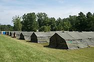 August 10, 2017 - Saint-Bernard-de-Lacolle, Quebec : Tents erected by the Canadian military near the US-Canada border will temporarily house up to 1,200 mostly Haitian refugees crossing into Canada.