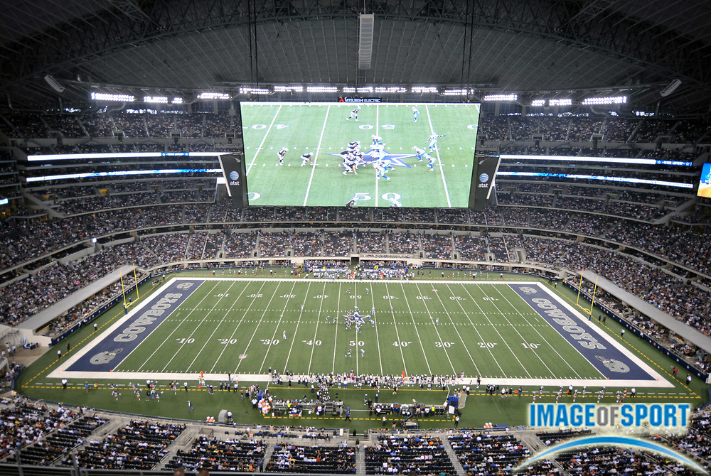 Aug 12, 2010; Arlington, TX, USA; General view of Cowboys Stadium during the preseason game between the Oakland Raiders and the Dallas Cowboys. Photo by Image of Sport