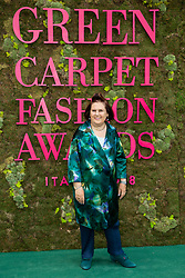 Suzy Menkes attends the Green Carpet Fashion Awards Gala during Milan Fashion Week Spring/Summer 2019 on September 23, 2018 in Milan, Italy. Photo by Marco Piovanotto/ABACAPRESS.COM