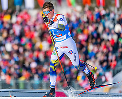 24.02.2019, Langlauf Arena, Seefeld, AUT, FIS Weltmeisterschaften Ski Nordisch, Seefeld 2019, Langlauf, Herren, Teambewerb, im Bild Calle Halfvarsson (SWE) // Calle Halfvarsson of Sweden during the men's cross country team competition of FIS Nordic Ski World Championships 2019 at the Langlauf Arena in Seefeld, Austria on 2019/02/24. EXPA Pictures © 2019, PhotoCredit: EXPA/ Stefan Adelsberger
