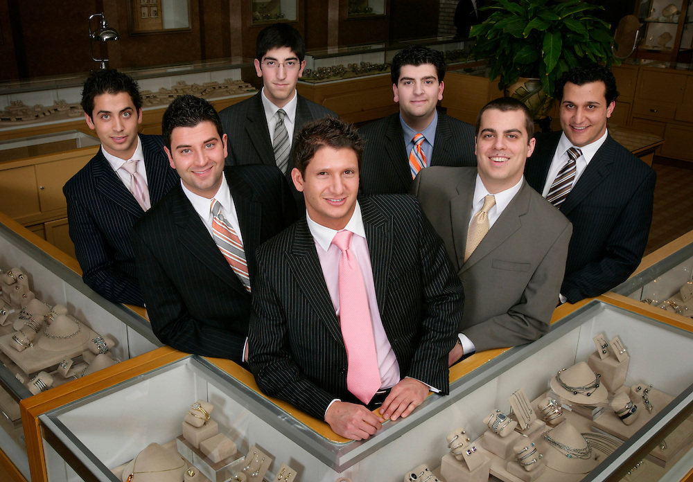 From left: Christopher Ahee, Eddie Ahee, Andre Ahee, Anthony Ahee, Niko Ahee, Lowell Ahee, Jr., and Jonathan Thomas.